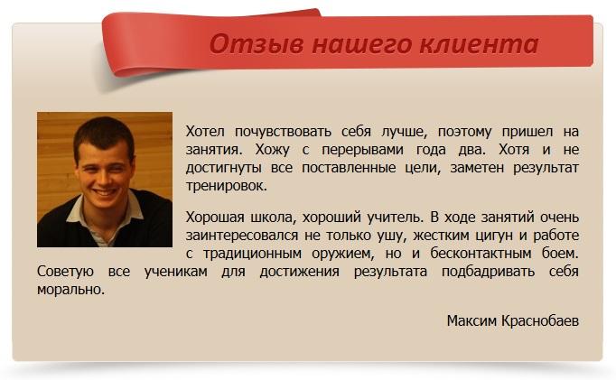 отзыв Краснобаев